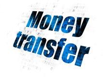Pieniądze pojęcie: Przelew Pieniędzy na Cyfrowego tle Zdjęcie Royalty Free