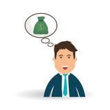 Pieniądze projekt Biznesowa ikona Pieniężny rzeczy pojęcie Zdjęcie Royalty Free