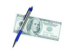 Pieniądze przeciw białemu tłu Obraz Royalty Free