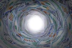 Pieniądze przy końcówką tunel Obraz Royalty Free