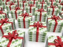 Pieniądze pudełka prezenty - 100 euro Fotografia Stock