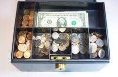 Pieniądze pudełko Obraz Royalty Free