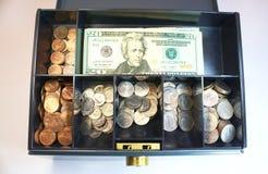 Pieniądze pudełko Obrazy Royalty Free