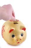 pieniądze pudełkowaty kolor żółty Zdjęcia Royalty Free