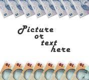 Pieniądze rama Zdjęcie Stock