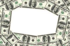 Pieniądze rama fotografia stock
