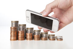 Pieniądze rozmowy fotografia stock