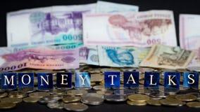 Pieniądze rozmowy zdjęcie royalty free