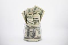 Pieniądze słój Fotografia Stock