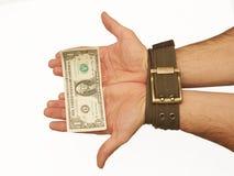 pieniądze sługa zdjęcie royalty free