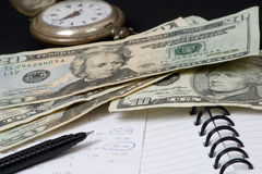 pieniądze save czas Fotografia Stock