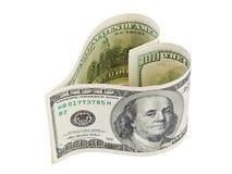 Pieniądze serce Zdjęcie Royalty Free
