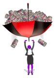 Pieniądze spadać royalty ilustracja