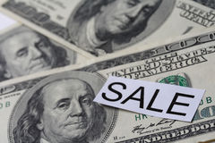 pieniądze sprzedaż Zdjęcia Stock