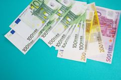 Pieniądze stawiający na boku fotografia royalty free