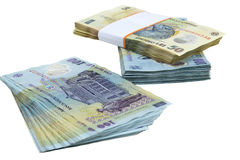 Pieniądze sterta Fotografia Royalty Free