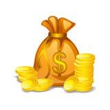 Pieniądze torba Fotografia Stock