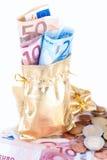 Pieniądze torba Zdjęcia Royalty Free