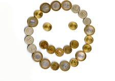 Pieniądze uśmiech Fotografia Royalty Free