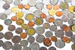 Pieniądze Ukuwa nazwę metal stertę Obrazy Royalty Free