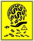 Pieniądze wśliznie przez palców Fotografia Stock