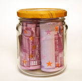 Pieniądze w banku Obrazy Royalty Free