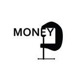Pieniądze w czarnej sztuce Zdjęcie Royalty Free