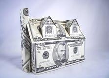 pieniądze w domu zdjęcia stock