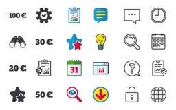 Pieniądze w Euro ikonach Sto, pięćdziesiąt EUR Fotografia Royalty Free