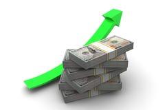 Pieniądze W górę strzała Obraz Stock