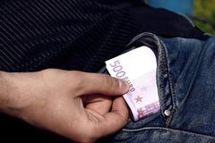 Pieniądze w kieszeni obrazy royalty free