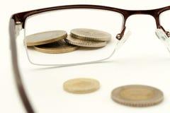 Pieniądze w ostrości Obrazy Stock