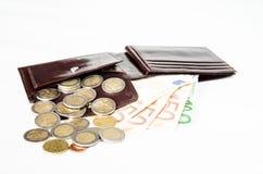 Pieniądze w portflu obrazy royalty free