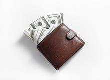 Pieniądze w portflu fotografia royalty free