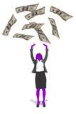Pieniądze w powietrzu ilustracja wektor