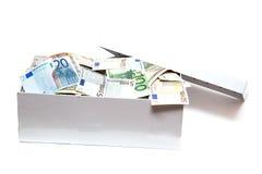 Pieniądze w pudełku Zdjęcie Royalty Free