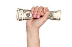 Pieniądze w ręce zdjęcia royalty free