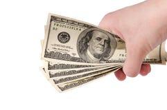 Pieniądze w ręce Obraz Royalty Free