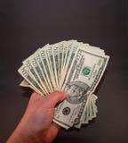 Pieniądze w ręce Obrazy Royalty Free