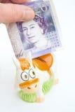 pieniądze wakacyjny oszczędzanie Zdjęcie Stock