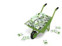 pieniądze wheelbarrow Zdjęcia Royalty Free