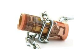 pieniądze wiążący up Zdjęcia Stock