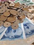 Pieniądze wymiana Fotografia Royalty Free