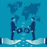 Pieniądze wymiany pomysły na dobre Biznesowa pojęcie wektoru ilustracja Obraz Stock