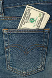 pieniądze z kieszeni Zdjęcia Stock