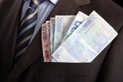 pieniądze z kieszeni Obraz Stock