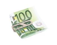 Pieniądze z srebną klamerką Obraz Royalty Free