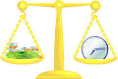 pieniądze zrównoważenie razem royalty ilustracja
