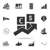 Pieniężna biznesowa postęp ikona Szczegółowy set finanse, bankowość i zysku elementu ikony, Premii ilości graficzny projekt Jeden ilustracja wektor