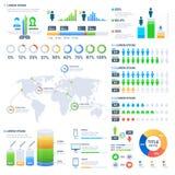 Pieniężna i marketingowa statystyczna grafika z Biznesowych dane wykresy ilustracja wektor